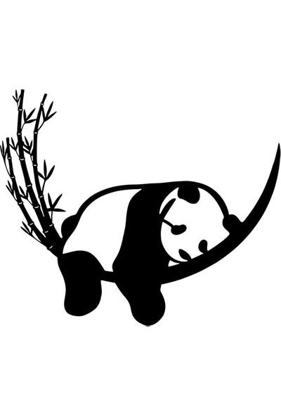 Berk Lazer Panda Dekoratif Ahşap Duvar Süsü