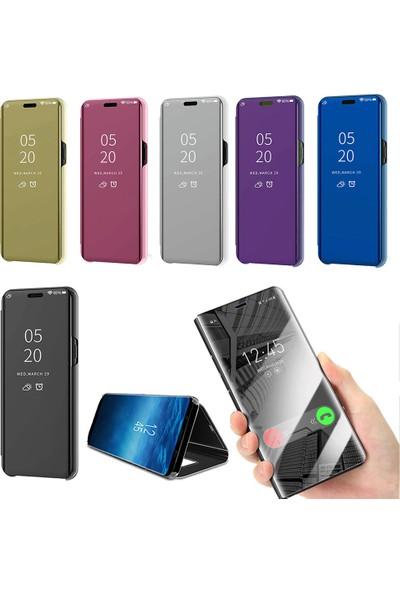 Smart Tech Samsung Galaxy A9 2018 Aynalı Kapaklı Lüx Kılıf