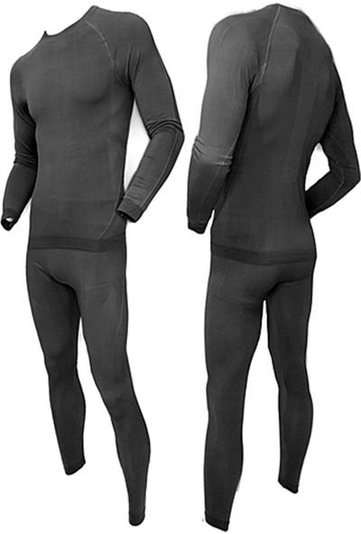 Akdağ Sportswear Basalayer -Derecede Kullanımlı Seamles Siyah Erkek Termal Içlik Takım