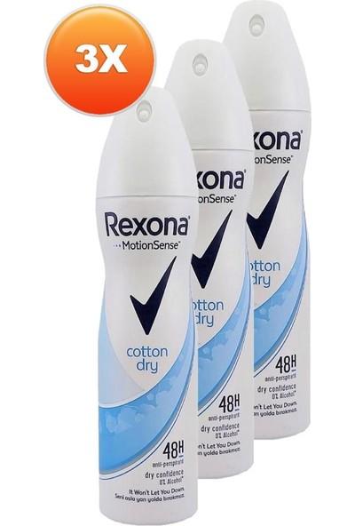 Rexona Cotton Dry Kadın Deodorant 150 ml 3'lü Paket