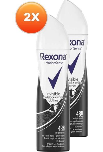 Rexona Invisible On Black + White Clothes 48H Kadın Deodorant 150 ml 2'li Paket
