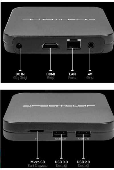 Dreamstar A4 Android 4K Ultra Hd Android Tv Box Sesli Komut