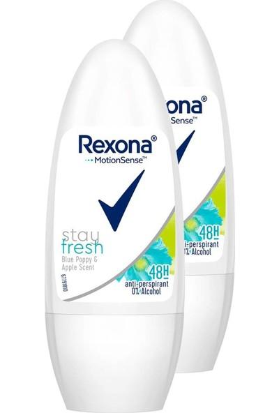 Rexona Stay Fresh Blue Poppy Apple Kadın Roll-On 50 ml 2'li Paket