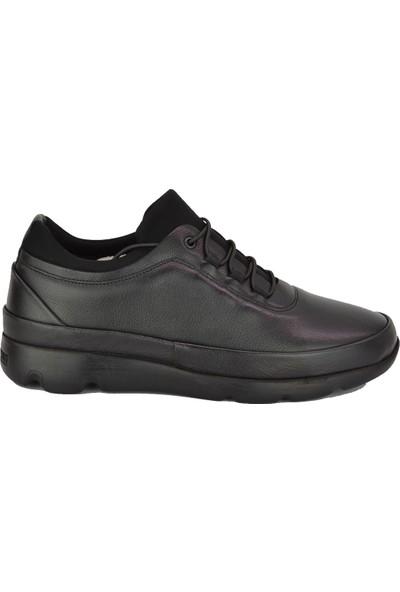 Voyager V-4806 Casual Deri Spor Ayakkabı Siyah