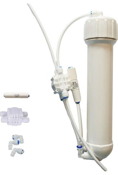Pure Osmos Seti membran Kabı Atık Kısıcı Valf Hazır Set