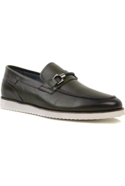 Marcomen - Haki Erkek Loafer Ayakkabı