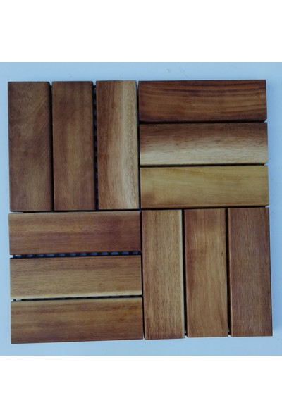 İroko Ağaç Duş Izgarası 30 x 30 cm