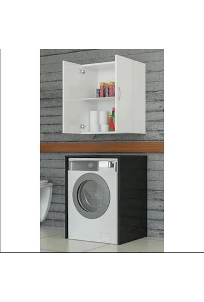 Dewoody Çamaşır Makine Üst Dolabı Beyaz 2 Bölmeli