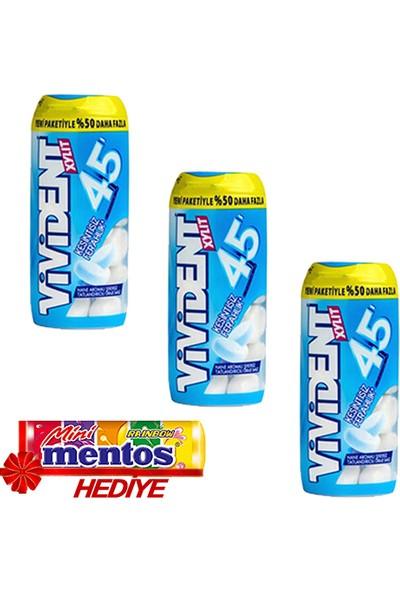 Vivident 45 Dakika Bottle Plastik Kutu 33 gr 3'lü + Mentos Mini