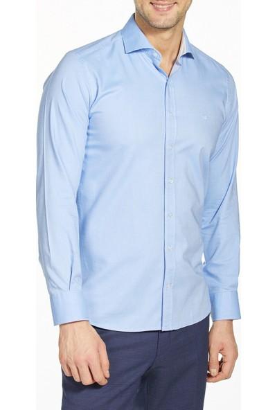 Bisse Erkek Uzun Kollu İtalyan Yaka Klasik Gömlek