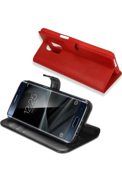 Smart Tech Samsung Galaxy E5 Kapaklı Kart Cepli Cüzdan Kılıf