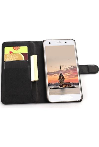Smart Tech Huawei P8 Lite Kapaklı Kart Cepli Cüzdan Kılıf