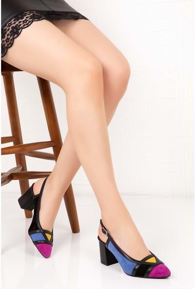 Gondol Deri Renkli Tar Topuklu Ayakkabı Şhn.75