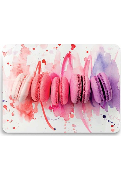 Ayna Evim Renkli Macaron Desenli Güvenli Cam Kesme Tahtası 25 x 35 cm