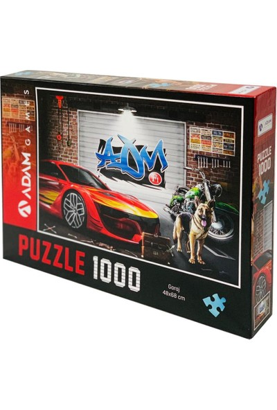 Adam Games Garaj 1000 Parça Puzzle