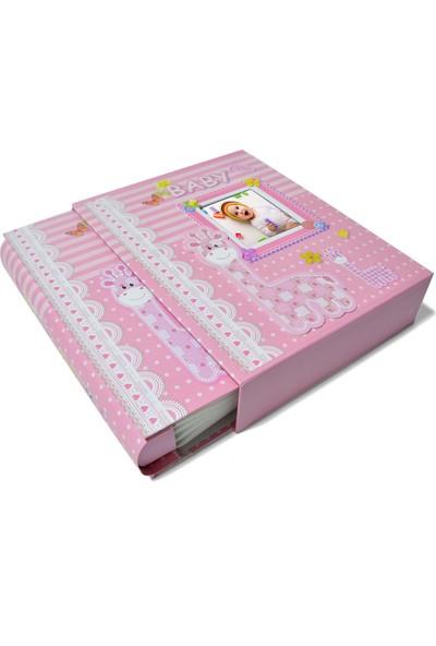 Nobbystar 200'LÜK 10X15 Kız Çocuk Bebek Kutulu Fotoğraf Albümü (Pembe)
