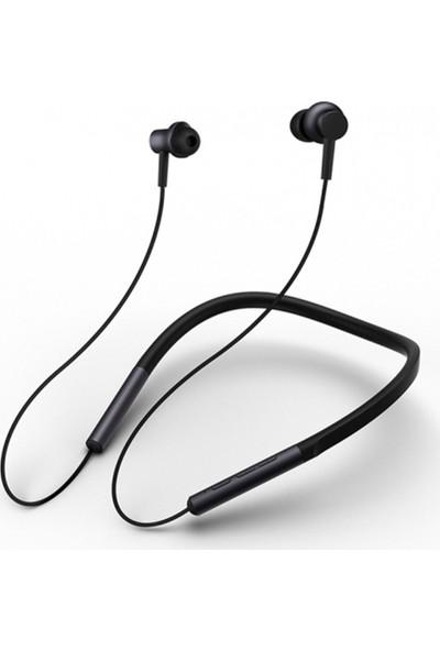 Xiaomi Kablosuz Bluetooth Yaka Kulaklık Mikrofonlu Stereo Spor Boyun Bandı Telefon Kulaklığı - Siyah (Yurt Dışından)