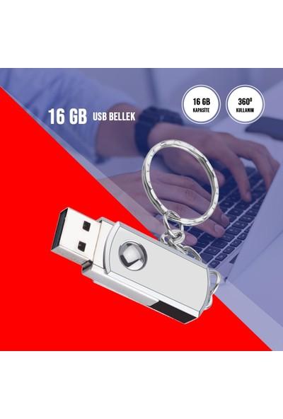 16 GB Anahtarlık USB Bellek Metal Kutulu