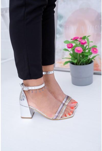 Epaavm Ince Şeritli Topuklu Sandalet