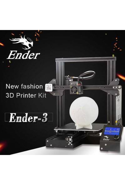 Creality 3D Ender-3 Yüksek Hassasiyetli Büyük Boyutlu 3D Yazıcı Baskı Boyutu 220 x 220 x 250 mm (Yurt Dışından)