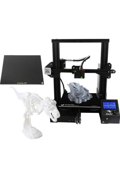 Creality 3D Ender-3x Yükseltilmiş Sürüm Kafes Camlı Yüksek Hassasiyetli Büyük Boyutlu 3D Yazıcı Baskı Boyutu 220 x 220 x 250 mm (Yurt Dışından)