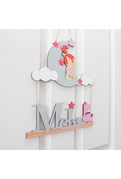 Meşgalem İsme Özel -Çakıl Bebek Çocuk Odası Kapı Süsü