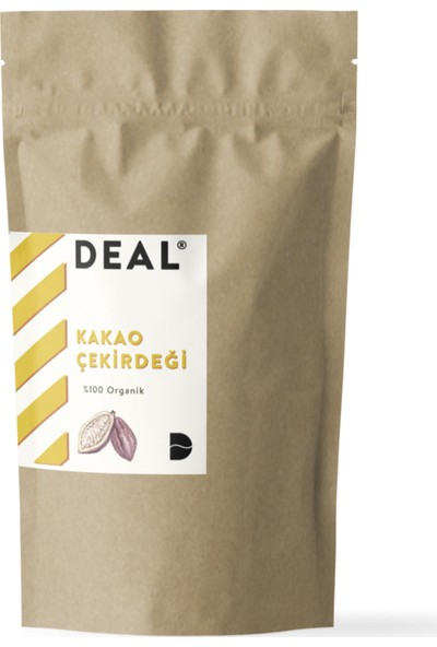 Deal Coffee Organik Kakao Çekirdeği 100 gr (Taze Kavrulmuş)
