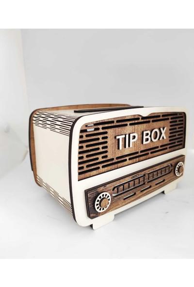 Ayt Reklam Atölyesi Nostalji Radyo Tip Box Bahşiş Kutusu