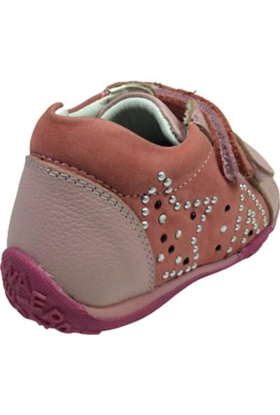 Perlina Ortopedika Perlina Bebe Kız Çocuk Bot 100-1 Pembe Cırtlı Deri Ortopedika Anatomik