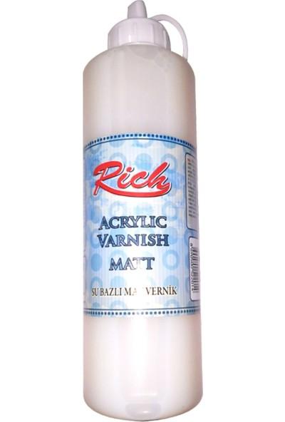 Rich 2522 High Gloss Su Bazlı Mat Vernik 500 ml