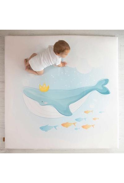 Baby Z Balina Desenli Büyük Kare Oyun Matı