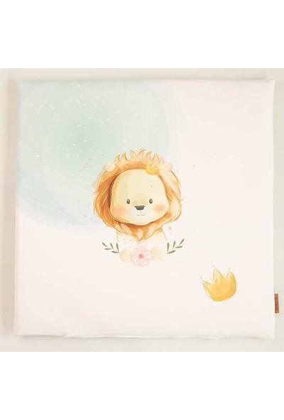 Baby Z Aslan Desenli Küçük Kare Oyun Matı