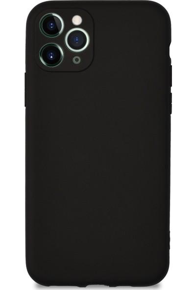 Caseart Apple iPhone 11 Pro Kılıf Kamera Korumalı Premier Silikon Kapak - Siyah