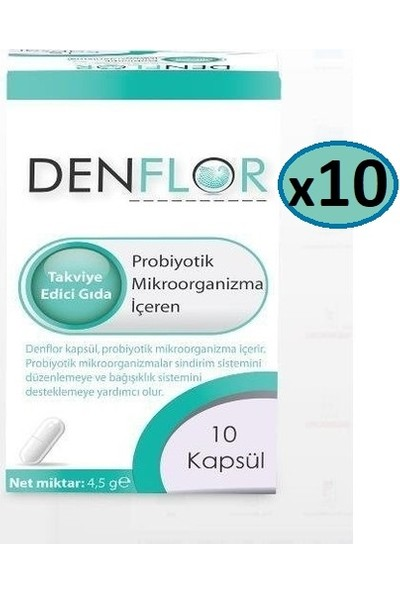 Denflor Probiyotik 10 Kapsül - 10 Kutu