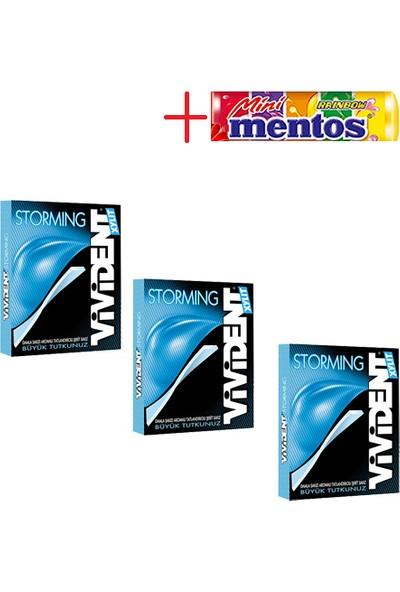 Vivident Storming Damla 3'lü + Mentos Mini