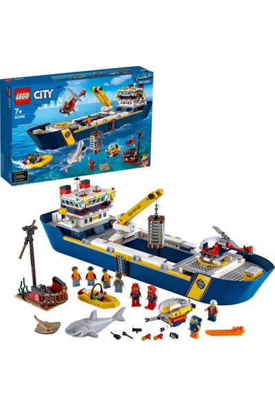 LEGO® City Okyanus Keşif Gemisi 60266 Yapım Seti (745 Parça)