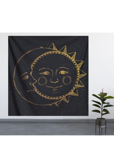 Alamode Güneş ve Ay Duvar Örtüsü