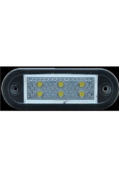 Ledshop 6'lı LED Universal Plaka Lamba 12 - 24 V Beyaz 2 Adet