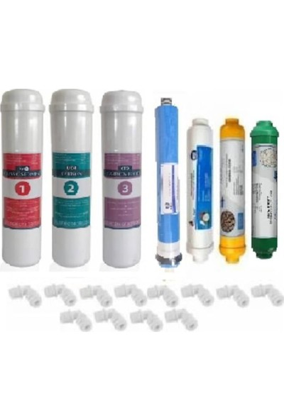 Aqua Bella Kasalı Kasa Su Arıtma Cihazları İçin 7'li Membranlı İnline set