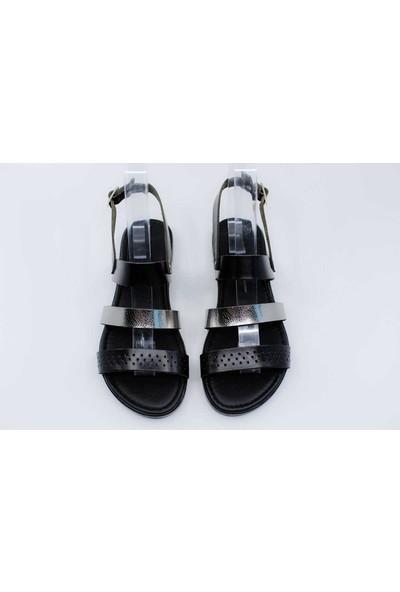 Papuccu Siyah Kurşun Kadın Sandalet GZS20Y97200