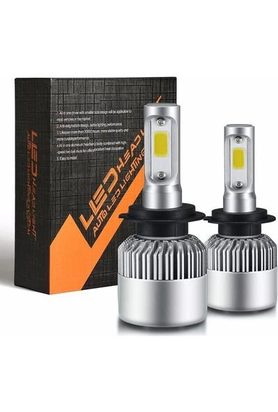 Balp 2 Adet H4 Turbo Fanlı Uzun Kısa LED Xenon 23W 9000LM 6500K Far Ampulü Zenon Series Headlıht