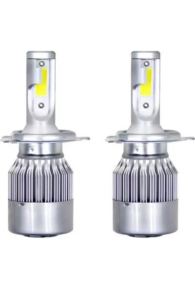Balp H4 Turbo Fanlı LED Uzun Kısa Xenon 30W 10600LM 6500K Far Ampulü Beyaz Işık Zenon Series Lıghtıng H4