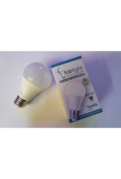 Foblight 9 Watt E27 Duylu LED Ampul 10'lu Paket
