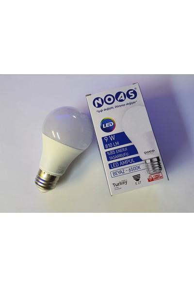 Noas 9 Watt E27 Duylu LED Ampul 10'lu Paket Beyaz