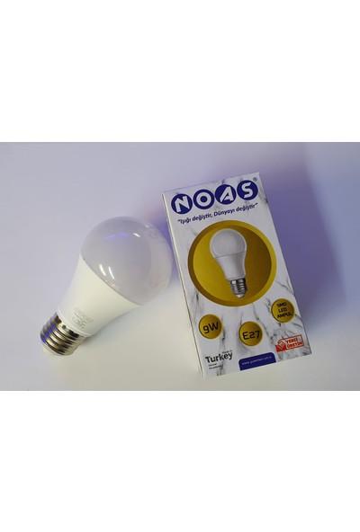 Noas 9 Watt E27 LED Ampul 10'lu Paket Gün Işığı