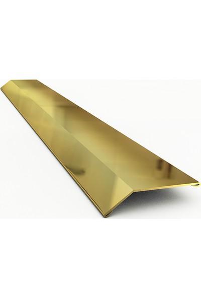 Nova Paslanmaz Çelik Kot Farkı Profili Parlak Gold   244 cm