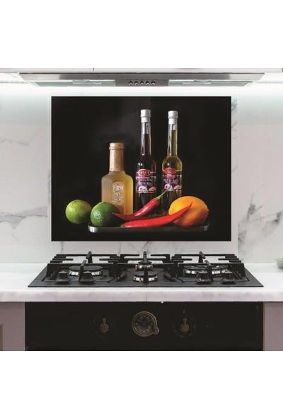 Dijitalya Mutfak Yağ-Meyveler-Sebzeler Sticker Ocak Arkası Kaplama