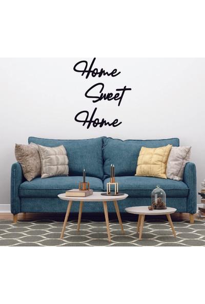 Dijitalya Home Sweet Home Dekorasyon Sticker Duvar Etiketi Siyah
