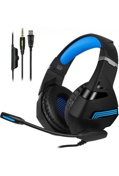 Yookie Profesyonel Oyuncu Kulaklığı Telefon Uyumlu Kulaküstü Gaming Kulaklık Siyah Renkli LED Pc/ps4/xbox Uyumlu