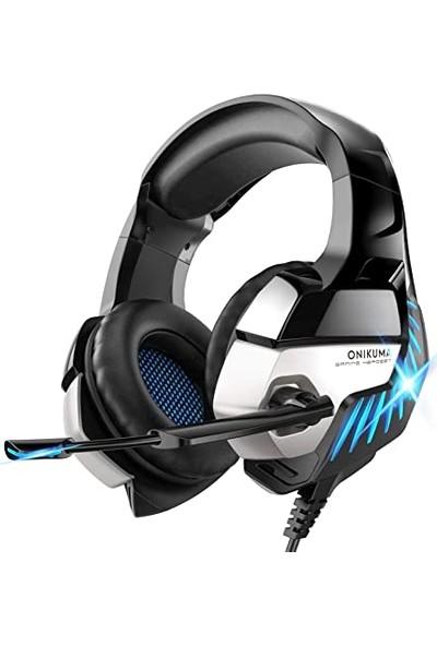 Onikuma Profesyonel Oyuncu Kulaklığı Telefon Uyumlu Kulaküstü Gaming Kulaklık Siyah Renkli LED Pc/ps4/xbox Uyumlu